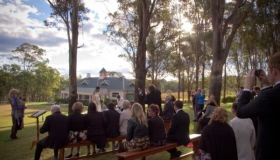Outdoor wedding at Wandin Valley Estate, Hunter Valley